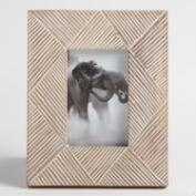 Gray and Natural Zigzag Wood Frame