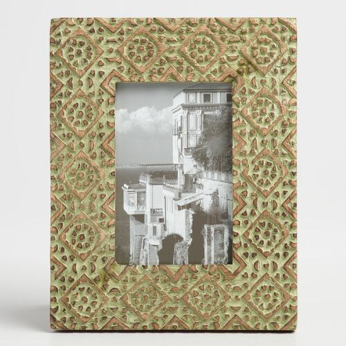 Green Tile Wood Mia Frame
