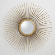 Gold Metal Tri Sunburst Mirror