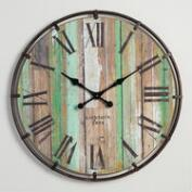 Wood and Metal Clayton Wall Clock