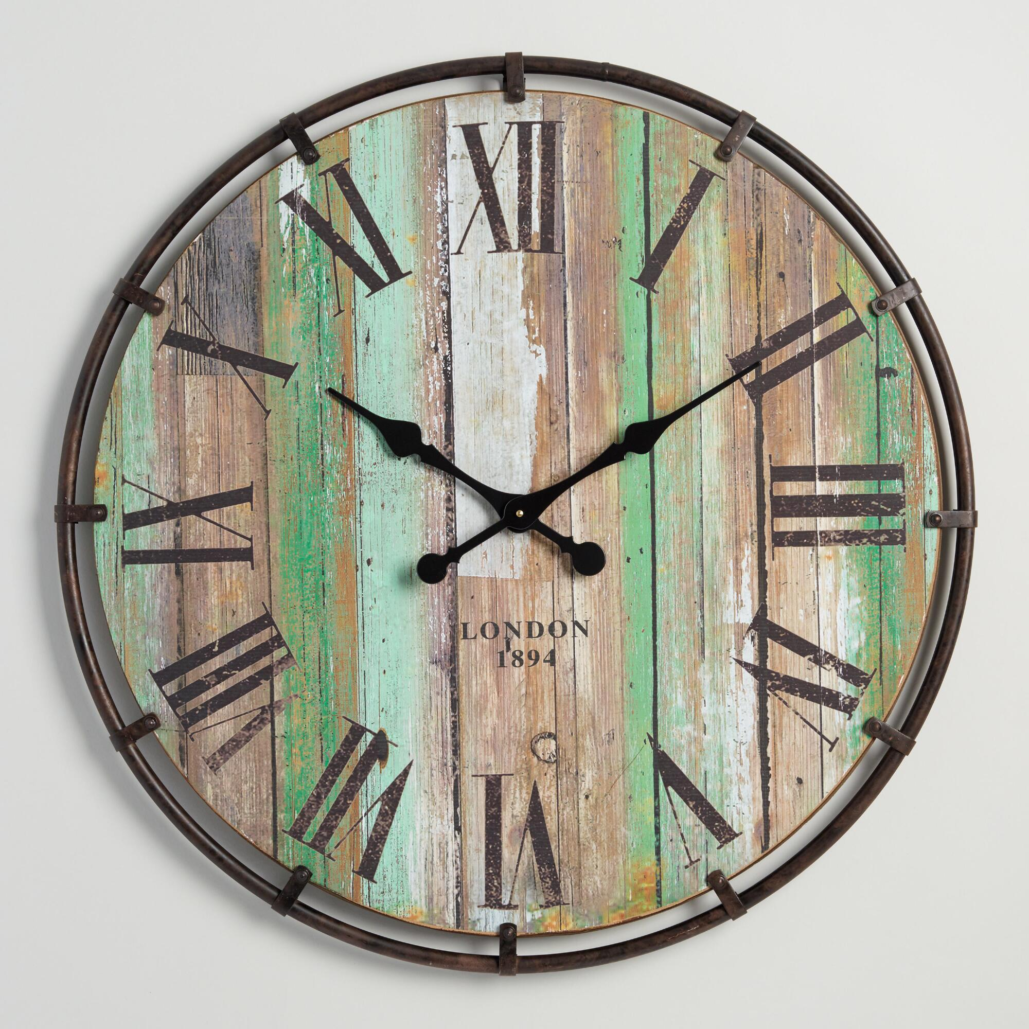 Green Vintage Kitchen Wall Clock