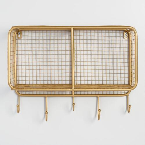 Gold Wire Braedyn 2 Bin Wall Storage