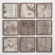 Birch Panel Wall Art Set of 9
