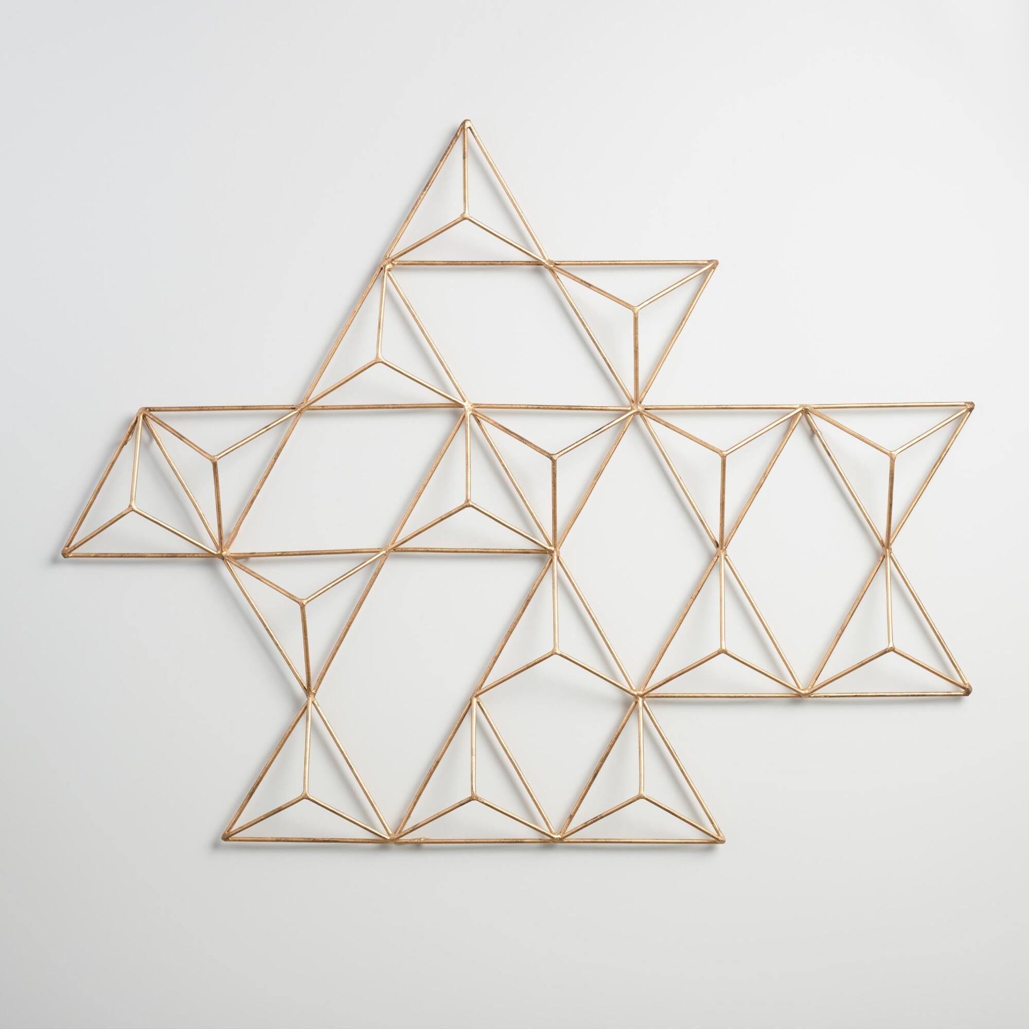 Geometric Design Wall Art : Metal jaxon triangle wall art world market
