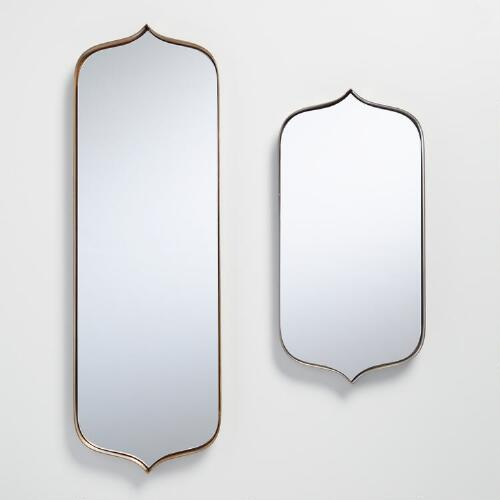 Antiqued Metal Ria Mirror