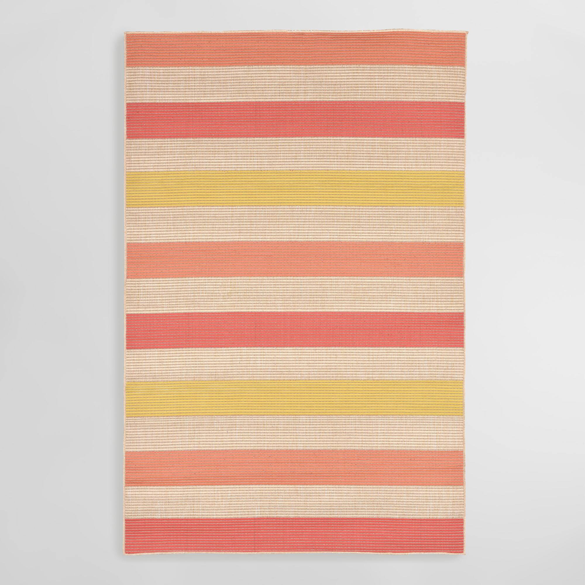 Warm stripe playa indoor outdoor area rug world market for Warm rugs