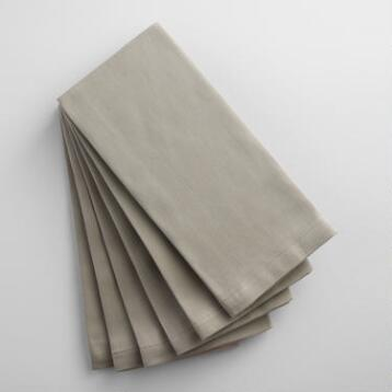 Light Gray Buffet Napkins Set of 6