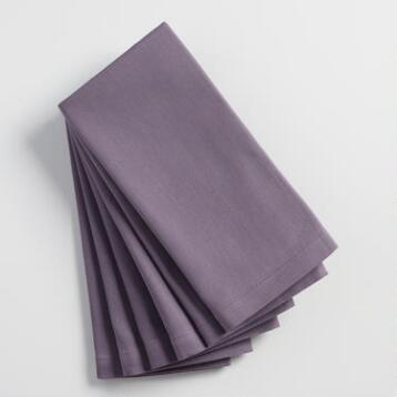 Purple Buffet Napkins Set of 6