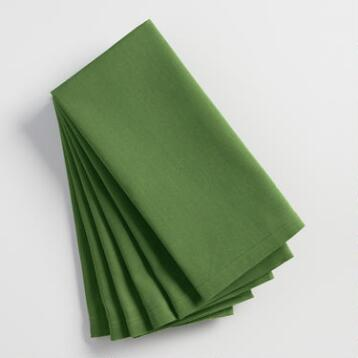 Willow Green Buffet Napkins Set of 6