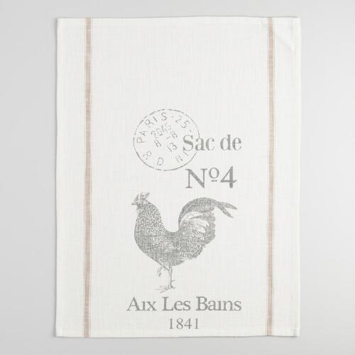 Rooster Farmhouse Kitchen Towel