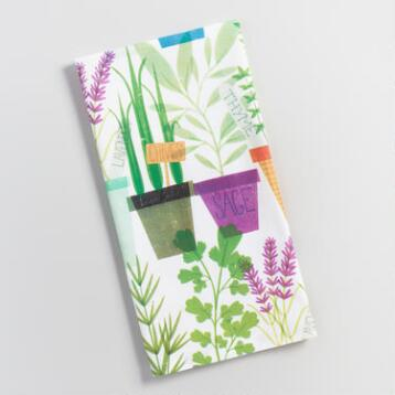 Potted Herbs Flour Sack Kitchen Towel
