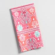 Pink Paisley Tile Kitchen Towel