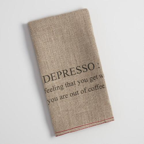 Depresso Linen Kitchen Towel