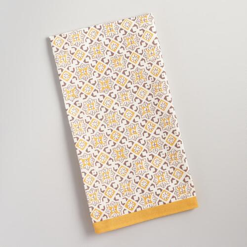 Yellow Geo Kitchen Towel