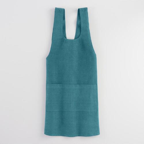 Blue Washed Cotton Smock