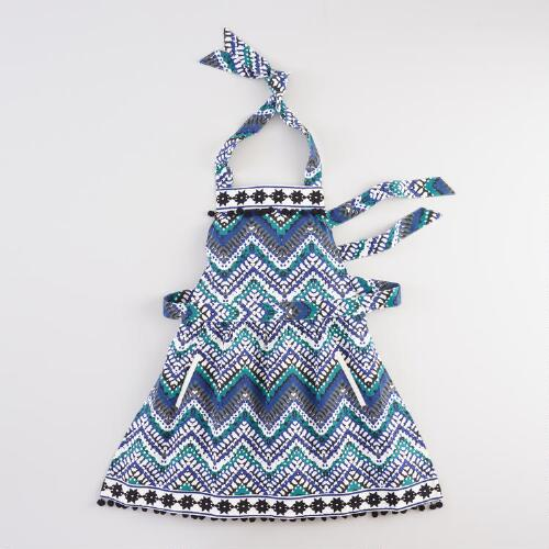 Zigzag Embroidered Apron