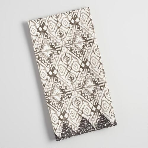 Gray Diamond Geo Kitchen Towel