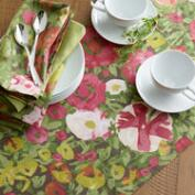 Watercolor Corrine Floral Table Linen Collection