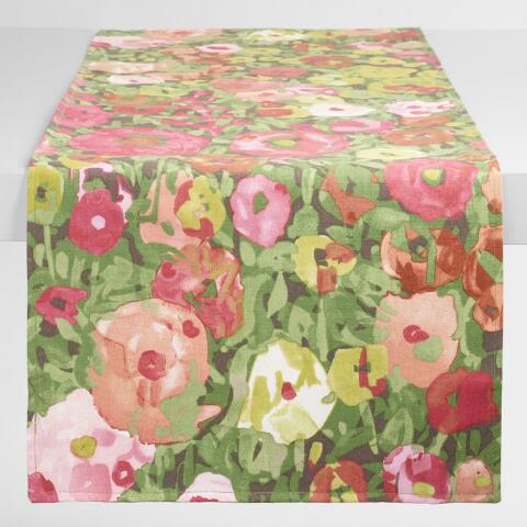 Watercolor Corinne Floral Table Runner World Market