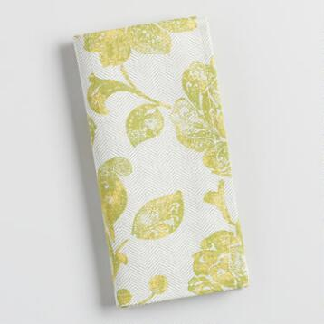 Green Ressika Floral Napkins Set of 4