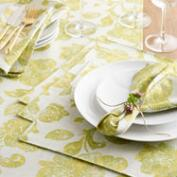 Green Ressika Floral Table Linen Collection