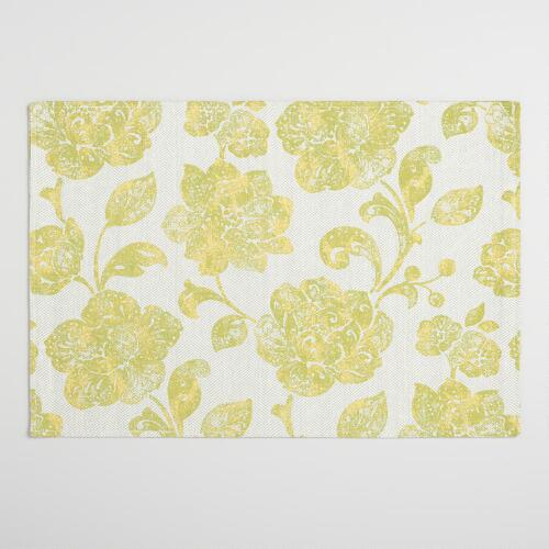 Green Ressika Floral Placemats Set of 4