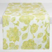 Green Ressika Floral Table Runner