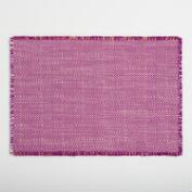Purple Geo Woven Jute Placemats Set of 4