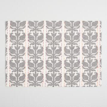 Floral Stripe Jacquard Nitika Placemats Set of 4