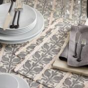 Floral Stripe Jacquard Nitika Table Linen Collection
