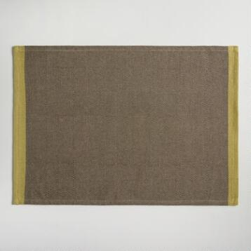 Brown Diamond Weave Harper Placemats Set of 4