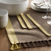 Brown Diamond Weave Harper Table Linen Collection