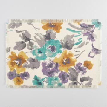 Gretchen Floral Jute Placemats Set of 4