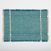 Teal Melange Khadi Placemats Set of 4