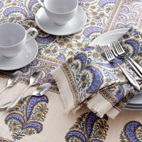 Lavender French Floral Delphine Table Linen Collection