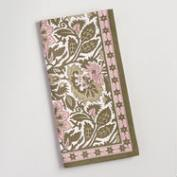 Pink and Green Kerani Floral Napkins Set of 4