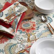 Blue Palampore Anika Table Linen Collection
