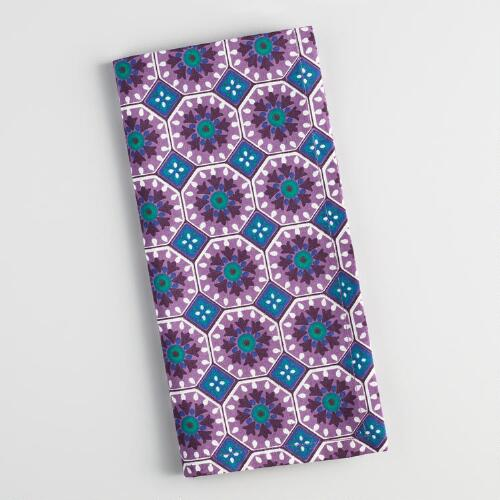 Purple Nomad Tile Napkins Set of 4