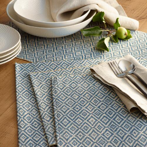 Blue Diamond Mendong Fiber Table Linen Collection