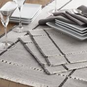 Gray Melange Khadi Table Linen Collection