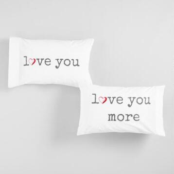 Love You, Love You More More Pillowcases Set of 2