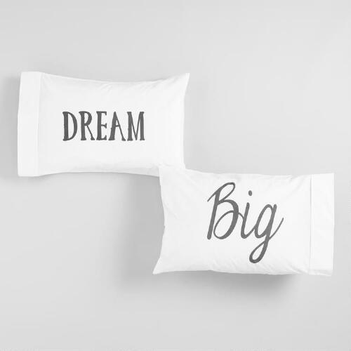 Dream Big Pillowcases Set of 2