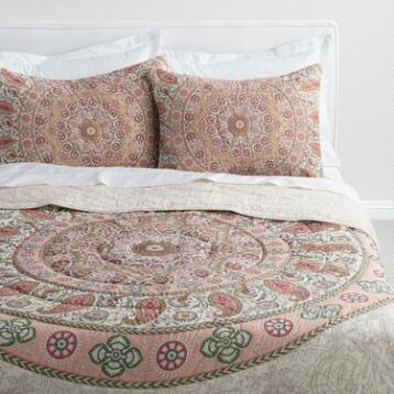 Blush Medallion Mariana Reversible Quilt