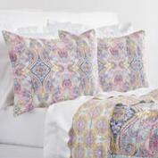Lavender and Blue Ogee Estelle Reversible Quilt