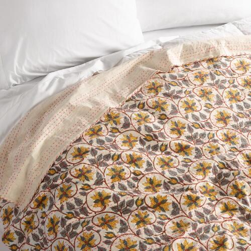 Kantha Embroidered Marcella Coverlet