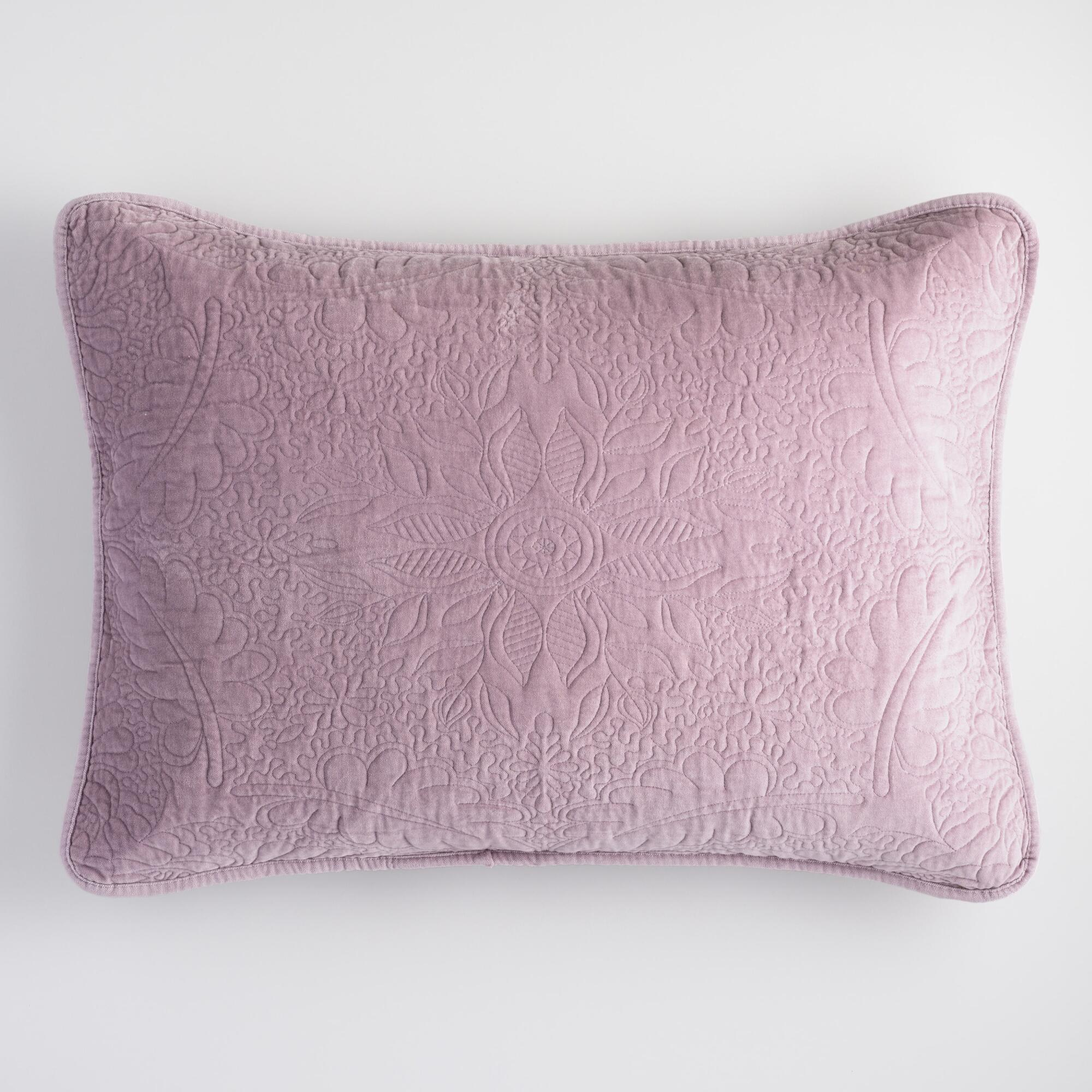 Lavender Velvet Throw Pillow : Lavender Velvet Pillow Shams Set of 2 World Market