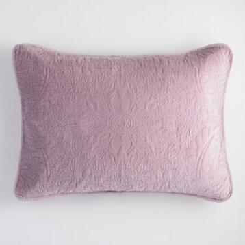 Lavender Velvet Pillow Shams Set of 2