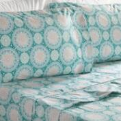 Teal Medallion 4 Piece Sheet Set