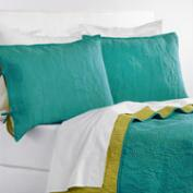 Sea Blue and Oasis Green Simone Bedding Collection