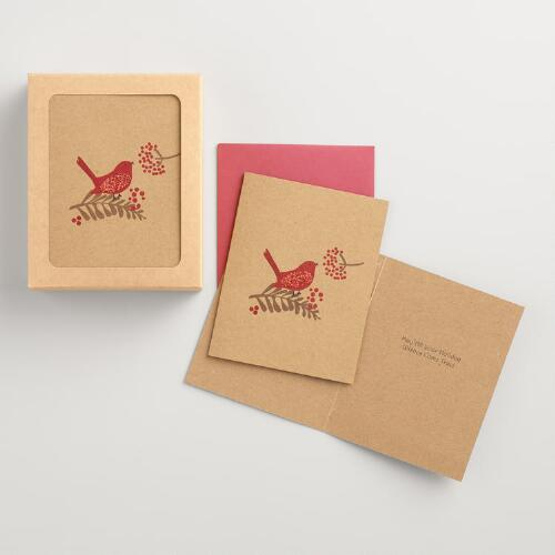 Krafty Bird Boxed Holiday Cards Set of 15